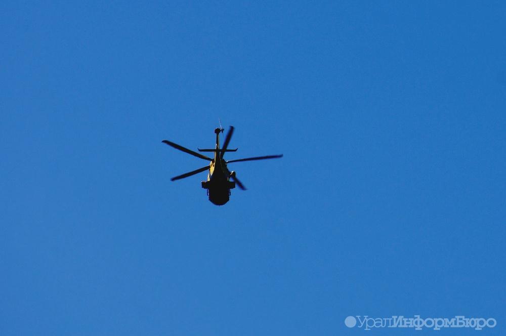 В Нефтеюганске сел вертолет