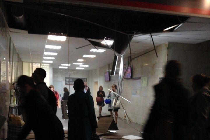 Навокзале вЕкатеринбурге обвалился потолок
