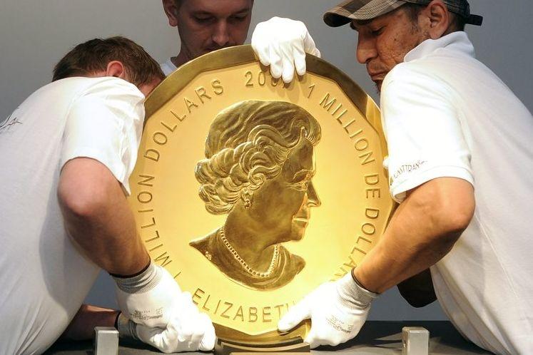 ВБерлине задержали подозреваемых вворовстве 100-килограммовой монеты