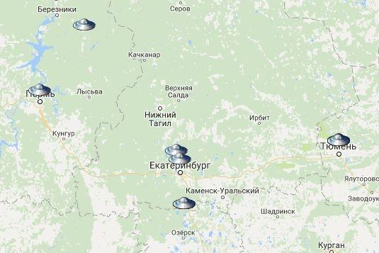 Новосибирск попал накарту инопланетных вторжений