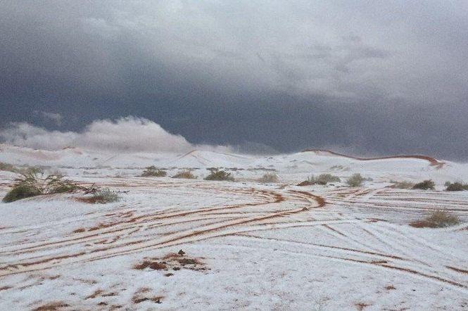 ВСаудовской Аравии идет снег