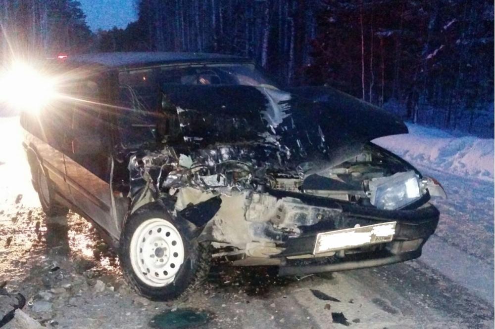 ВСвердловской области вДТП пострадали женщина идвое детей