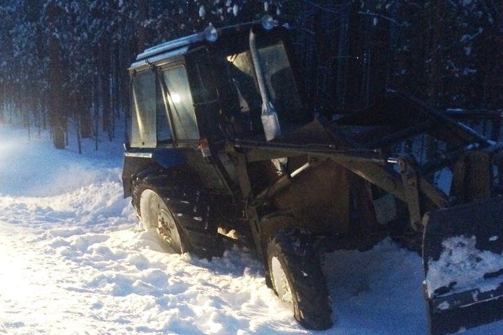 17— летний ребенок угнал трактор иуходил отпогони ДПС