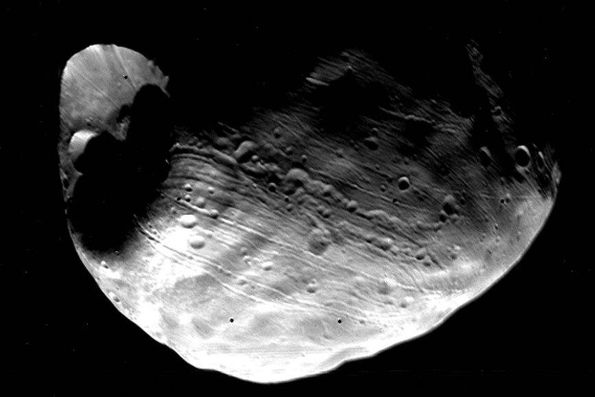 Наспутнике Марса найдена предполагаемая база инопланетян