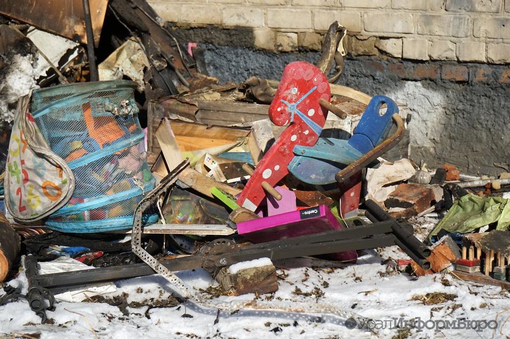 ВКурганской области впожаре погибли трое детей