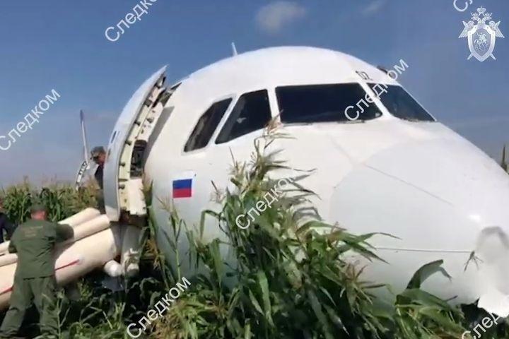 Экипаж «Уральских авиалиний», посадивший самолет вполе, попал всписок противников  государства Украины