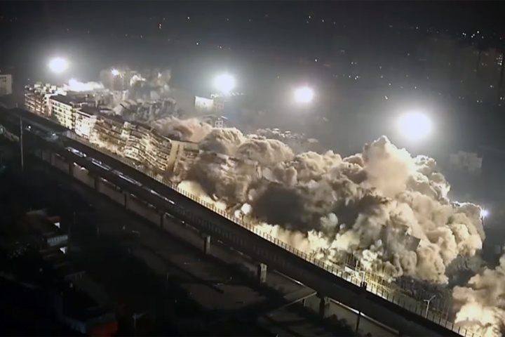 Китайцы за10 секунд снесли 19 высотных домов— Контролируемый взрыв