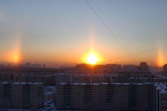 Над Новокузнецком взошло сразу три солнца